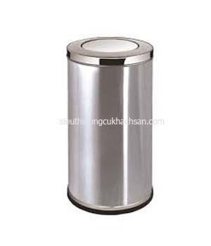 thùng rác inox nắp bập bênh