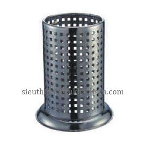 hũ inox đựng đũa có lỗ-thiết bị khách sạn Tín Phát TP696093-min