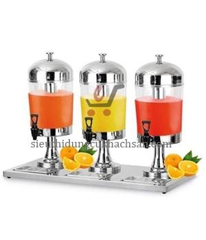 bình đựng nước trái cây 3 ngăn - thiết bị buffet