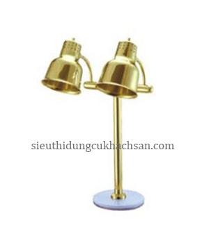 đèn hâm nóng buffet 2 bóng mạ vàng