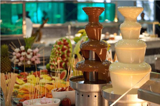 tháp phun chocolate nhiều tầng