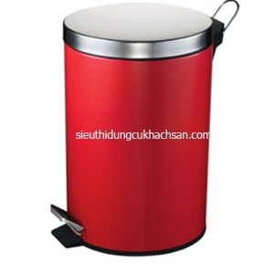 thùng rác chân đạp inox màu đỏ TP692117 DO-min