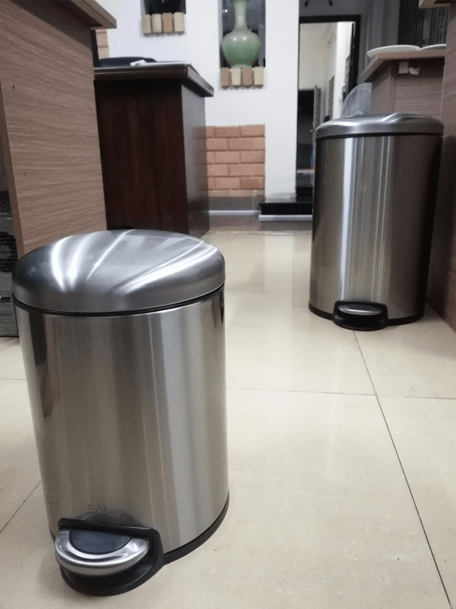 thùng rác inox đạp chân 5L