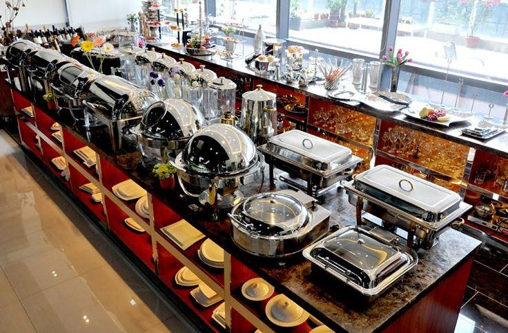 Bộ nồi hâm nóng thức ăn buffet - Hotline đặt hàng 0987940752