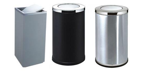 thùng rác inox nắp lật - Hotline đặt hàng 0987.940752