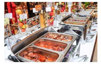 khay inox đựng thức ăn buffet