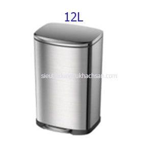 Thùng rác inox đạp chân 12 lít - TRAY6082
