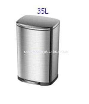 Thùng rác inox đạp chân 35 lít - TRAY6083