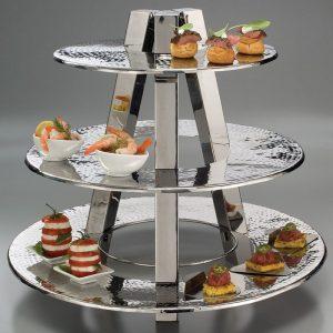 kệ trưng bày thức ăn buffet 3 tầng