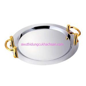 Khay inox trưng bày buffet hình tròn TP8205