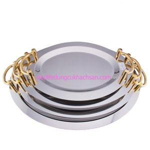 Khay inox trưng bày buffet hình tròn TP8206