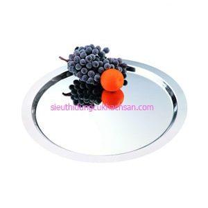 Khay inox trưng bày buffet hình tròn TP8219