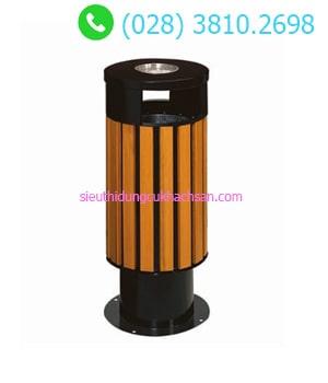 Thùng rác gỗ ngoài trời TP692153