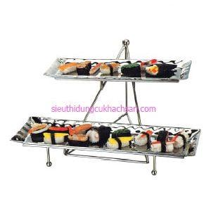 Kệ trưng bày buffet inox 2 tầng - TP80023