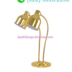 Đèn hâm nóng buffet đôi màu vàng - TPD091