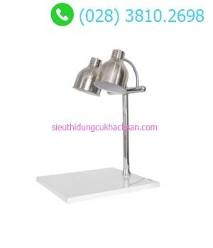 Đèn hâm buffet đế vuông trắng màu bạc - TPD109