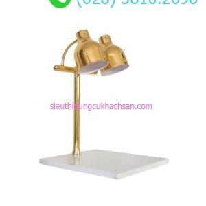 Đèn hâm buffet đế vuông trắng màu vàng - TPD110
