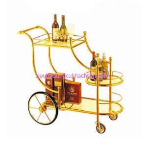 Xe đẩy rượu 2 tầng TPXD0010