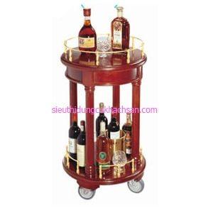 Xe đẩy phục vụ rượu 2 tầng - TPXD0017
