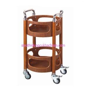 Xe đẩy phục vụ rượu gỗ - TPXD0020