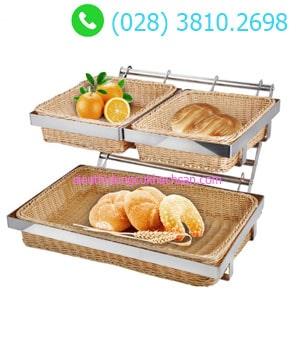 Kệ trưng bày bánh mì 2 tầng buffet TPZ-03115