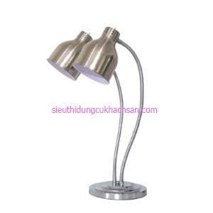 Đèn hâm nóng buffet đôi màu bạc - TPD090