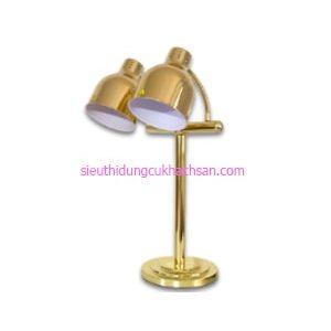 Đèn hâm nóng thức ăn buffet đôi màu vàng - TPD099