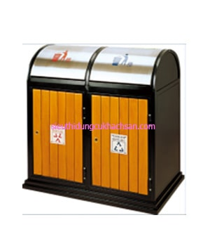 Thùng rác bằng gỗ TP-20001