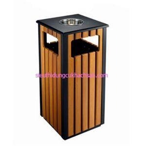 Thùng rác gỗ ngoài trời TP692152