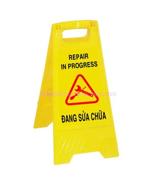Biển cảnh báo đang sửa chữa chữ A