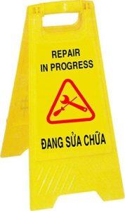 Biển cảnh báo sửa chữa