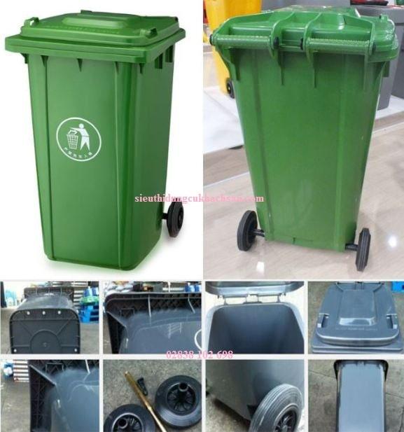 Các bộ phận của thùng rác cộng cộng 120L