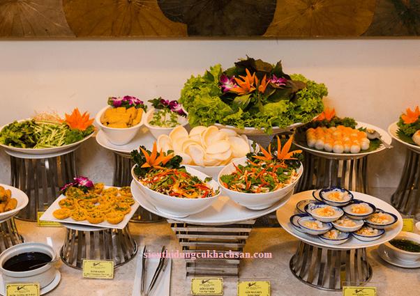 Kệ inox trưng bày buffet