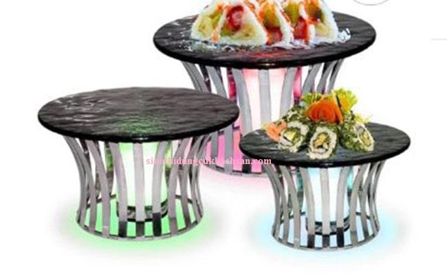 Kệ trưng bày buffet tròn - TPK002