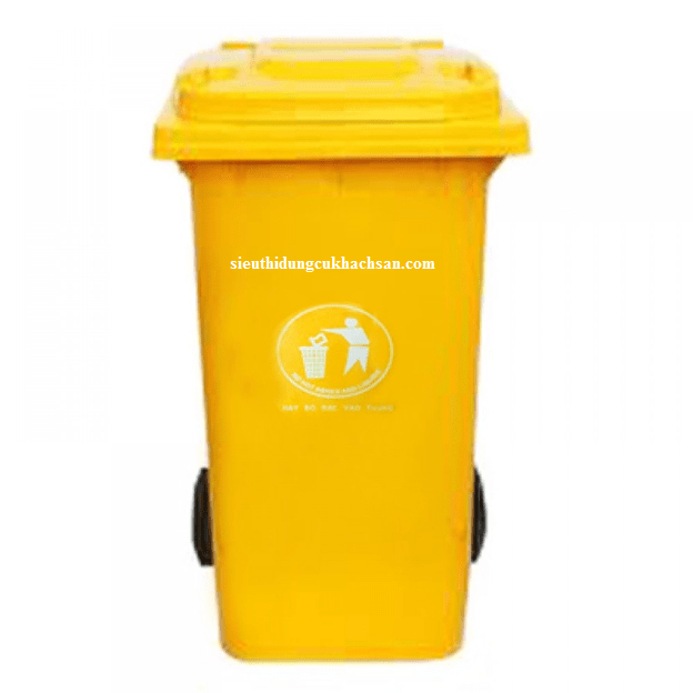 Thùng rác công nghiệp 240L màu vàng