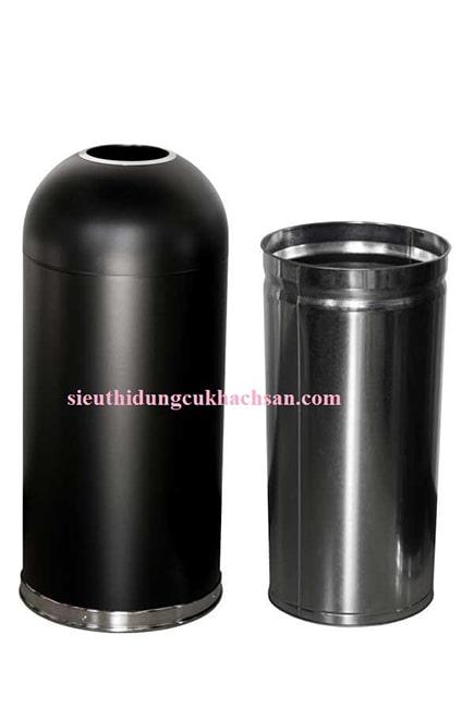 Các bộ phận của thùng rác sơn đen