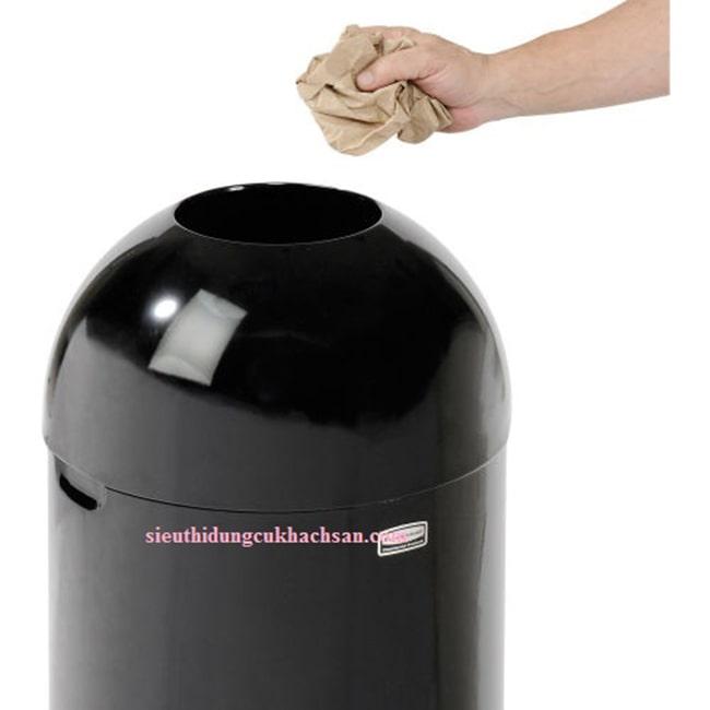 Cửa bỏ rác thùng rác sơn đen