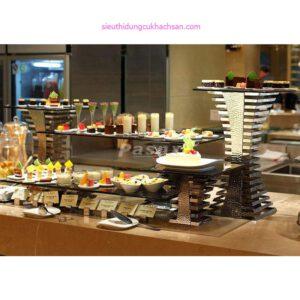 Chân kệ inox trang trí buffet