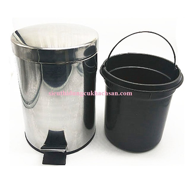 Các bộ phận thùng rác inox đạp chân 5L