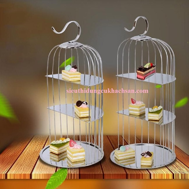 Lồng chim trưng bày buffet