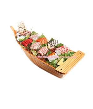Thuyền gỗ trang trí thức ăn - TPHM063