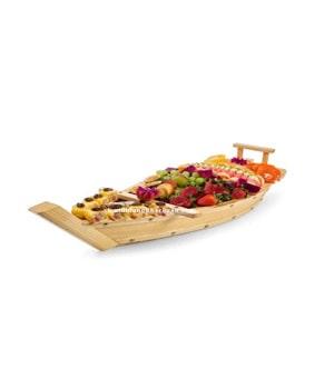 Thuyền Gỗ đựng sushi
