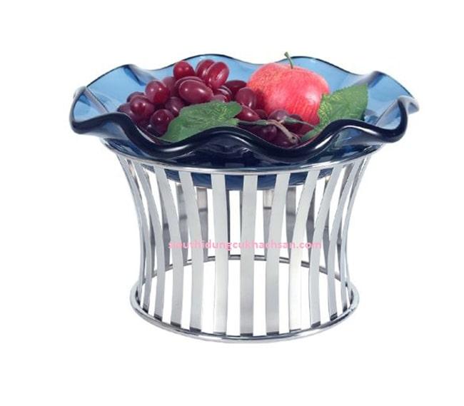 Chân đế inox tròn trưng bày buffet