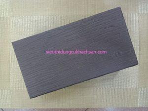 Mặt sau hộp khăn giấy hình chữ nhật