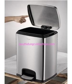 thùng rác inox hình vuông 20 lít