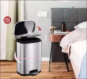 Nắp thùng rác inox sử dụng công nghệ giảm chấn hiện đại không gây tiếng ồn
