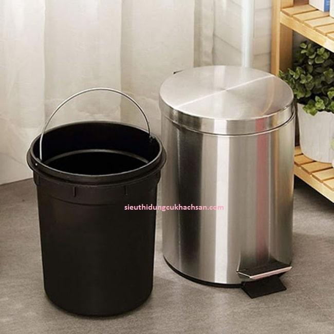 Thùng rác inox 8 lít cao cấp