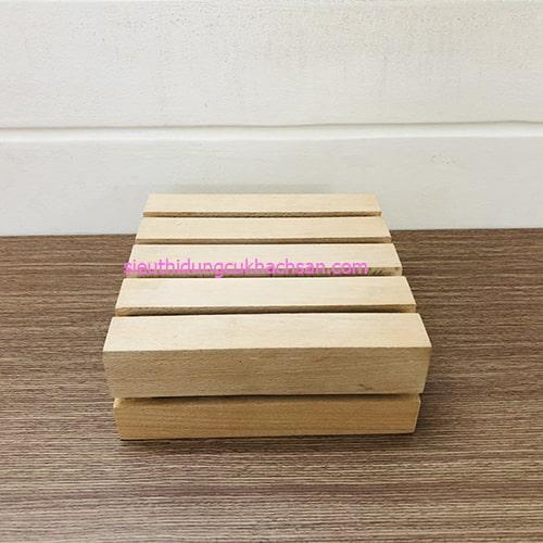 Kệ gỗ trang trí 2 tầng