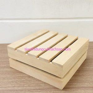 Kệ trưng bày buffet bằng gỗ 2 tầng - TPHM0223