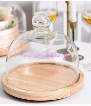 Thớt gỗ trang trí thức ăn - TPHM0230